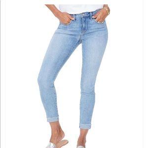 NYDJ Ami Skinny Raw Cuffed Bottom Hem Size 6